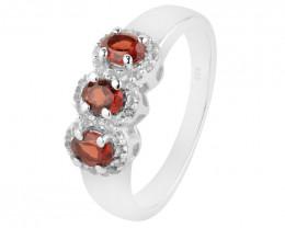 Garnet 925 Sterling silver ring #36720