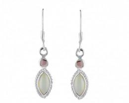 Chalcedony 925 Sterling silver earrings #33468