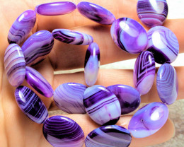 291.0 Total Carat Weight Purple Agate Strand 15.5 Inch - Gorgeous