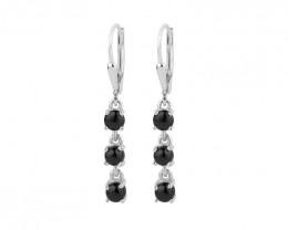 Black onyx 925 Sterling silver earrings #33513