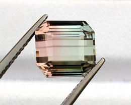 5.725 Attractive Bi-Color Tourmaline Faceted Gem