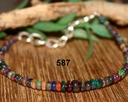 Ethiopian Welo Smoked Opal Bracelet 587