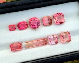 15.55 Carats Natural Asscher Cut Tourmaline Gemstones