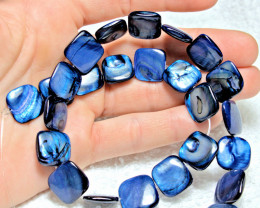 204.5 Tcw. Royal Blue Colored Mother of Pearl Strand - Gorgeous