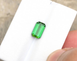 2.05 Ct Natural Green Transparent Tourmaline Ring Size Gemstone
