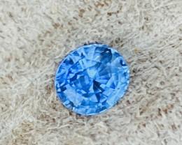1.28 ct sapphire certified Cornflower blue.