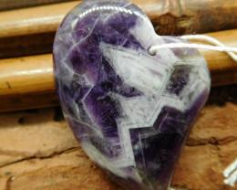 Heart shape amethyst pendant (G2782)