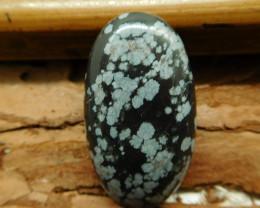 Snow flake obsidian cabochon (G2784)