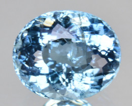 1.57Cts Awesome Natural Beautiful Blue Aquamarine Oval Cut Ref VIDEO