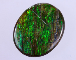 15x12mm,  7.74cts Natural Canadian Ammolite Stone / MA1690