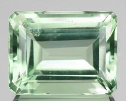 20.81 Cts Natural Baby Green Prasiolite / Amethyst Octagon Cut Brazil