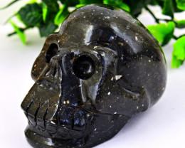 Genuine 949 cts EXCLUSIVE Tektite Carved  Skull