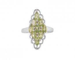 Peridot 925 Sterling silver ring #36352