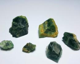 Amazing Natural color rough Tourmaline parcel 100Cts #GN2