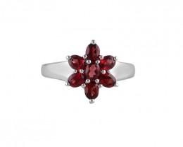 Garnet 925 Sterling silver ring #36464