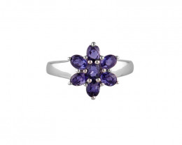 Iolite 925 Sterling silver ring #36464