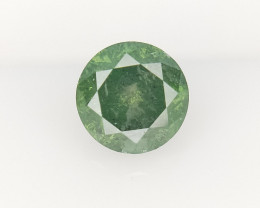 0.50 CTS , Fancy Green Colored Diamond , Salt and Pepper Diamond