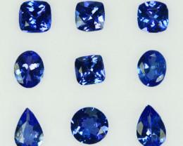 3.24Cts Natural Purple Blue Tanzanite Mix shape  Tanzania