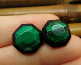 Jewelry malachite earring stud pair (29)