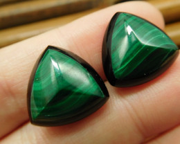 Gemstone malachite earring pair for lover (13)