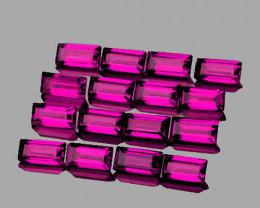 4x2 mm Baguette 16pcs 2.40cts Purple Rhodolite Garnet [VVS]