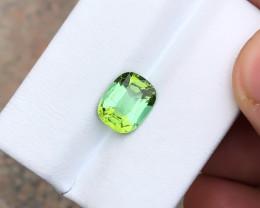HGTL CERTIFIED 2.41 Ct Natural Blueish Green Transparent Tourmaline Gemston