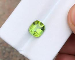 HGTL CERTIFIED 2.17 Ct Natural Greenish Yellow Transparent Tourmaline Gemst