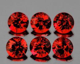 4.00 mm Round 6 pcs 1.85ct Orange Red Garnet [VVS]
