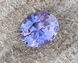 1.87 ct sapphire certified unheated.