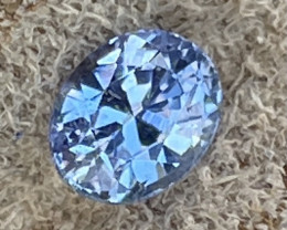 1.34 ct sapphire certified unheated blue sapphire.
