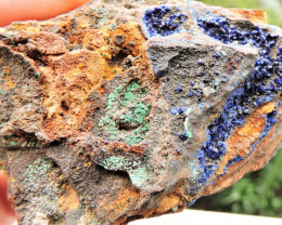 99.19g AZURITE ADAMITE MIXED SPECIMEN FROM LAVRION MINES GREECE
