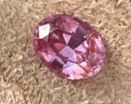 1.21 ct Padparadscha sapphire certified unheated top cut.