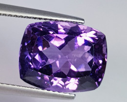 10.28 ct AAA Quality Gem  Awesome Cushion Cut Natural Amethyst