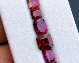 ~No Reserve~ 10.70 ct Malawi Garnet Top Color Custom Cut Parcel