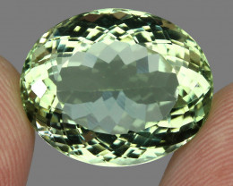 19.69 ct Natural Earth Mined Top Rich Green Prasiolite