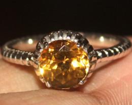 925 Silver Natural Citrine ring 91