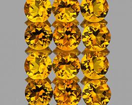 4.00 mm Round 12 pcs 2.81cts Golden Orange Citrine [VVS]