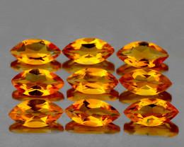 8x4 mm Marquise 9 pcs 4.48cts Golden Orange Citrine [VVS}