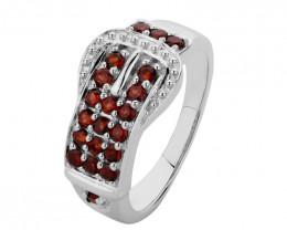 Belt Ring in Garnet 925 Sterling silver #36554