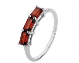 Stacker Ring Garnet 925 Sterling silver #36569