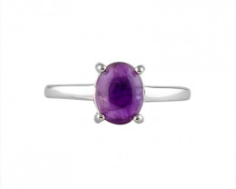 Amethyst 925 Sterling silver ring #36614