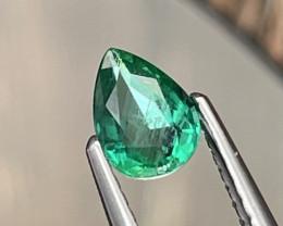 Vivid Green Natural Zambian Emerald AAA Grade 0.54 Cts