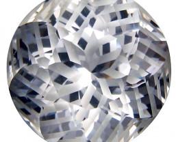 15.50Cts Genuine Amazing Unheated Round precision Cut White Topaz See VEDIO