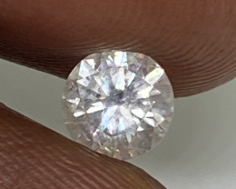 (1) Certified $845 Stunning 0.54cts SI2 Nat White Round  Loose Diamond