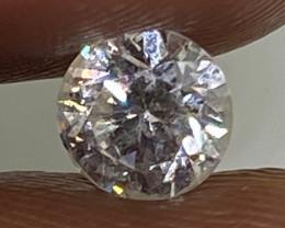 (2) Certified $1167  Precious  0.53cts SI1 Nat  White Round  Loose Diamond