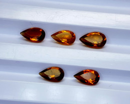 2.75Crt Madeira Citrine Lot Natural Gemstones JI19