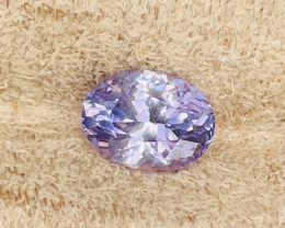1.61 ct sapphire certified unheated.