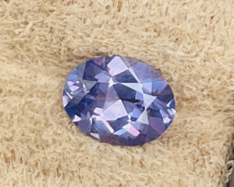 1.28 ct violet sapphire certified unheated.