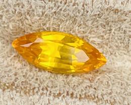 2.27 ct  orange sapphire certified.