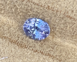 1.18 ct sapphire certified unheated.